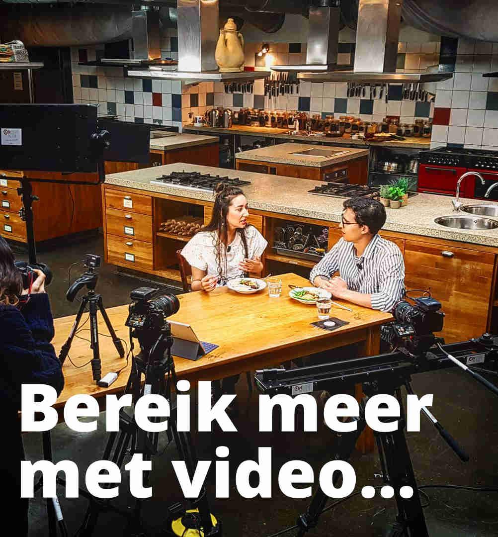 Videoproductie van interview in de keuken